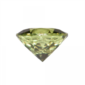0.544 Carat Yellow Green Sapphire Excellent Cut Round 5 mm Calibrated Heated Loose Stone